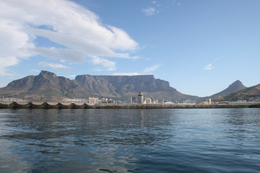 Table Mountain from the bay