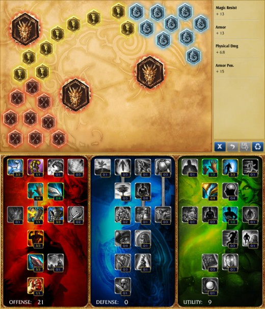 Example Runes & Masteries, League of Legends Screenshot, copyright Riot Games, Inc.