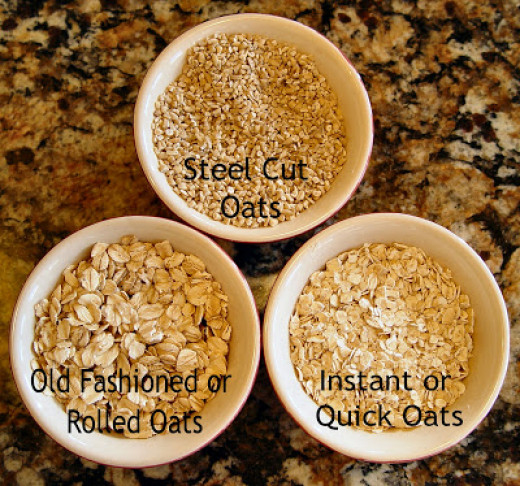 Steel cut oats (unsalted and unsweetened -- completely natural) are best for this recipe.