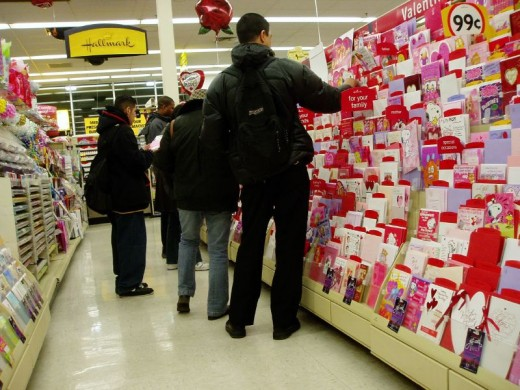 When choosing a Valentine's Day card for the man in your life, try to choose something that is serious, but not sentimental. Excessive sentimentality obscures the point you're trying to make in your card.