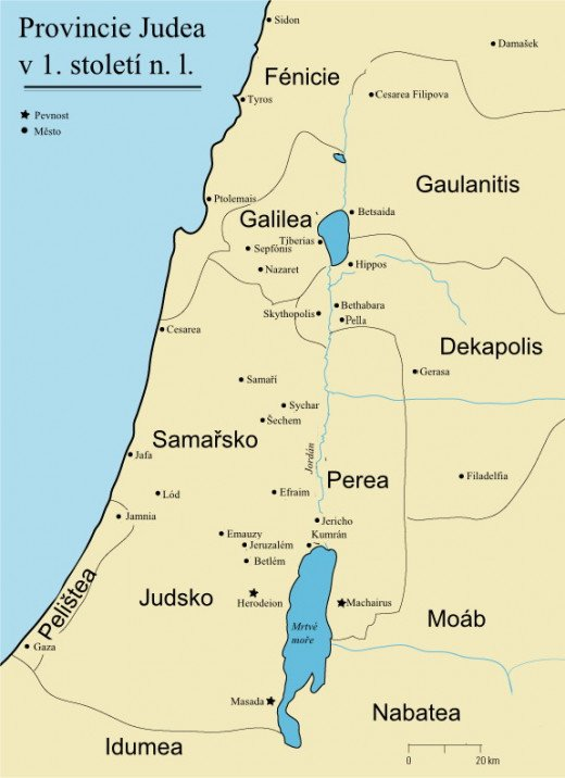 Map of 1st  Century Judea