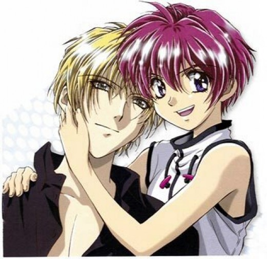 Characters from Gravitation. A Yaoi series.