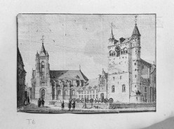 1916 drawing of Maastricht Basilica