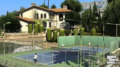 You can play Tennis and many other sports in RockStar's Grand Theft Auto 5. The game tries to treat your character like it's his real life.