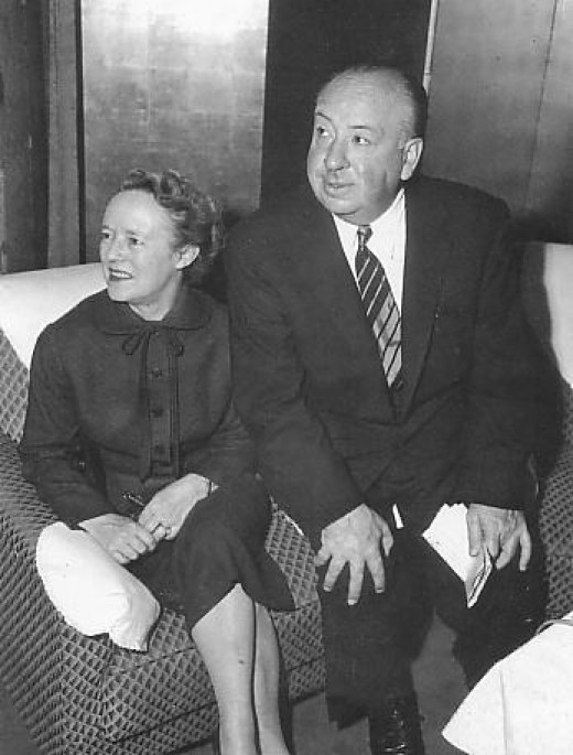 Alfred Hitchcock and his wife, Alma