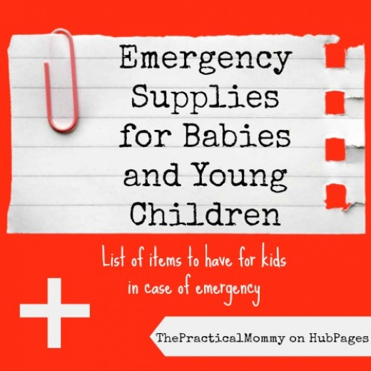 List of emergency supplies to have for babies and young children