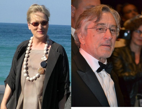 A Photo of Actor Robert De Niro and Actresss Meryl Streep.