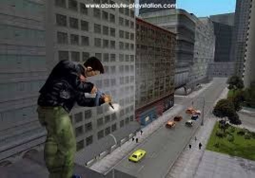Grand Theft Auto 3 features roof top sniping and of course flange arsenal of weapons.