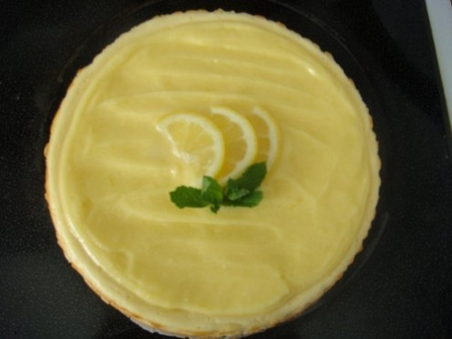 A bowl of tangy lemon custard.