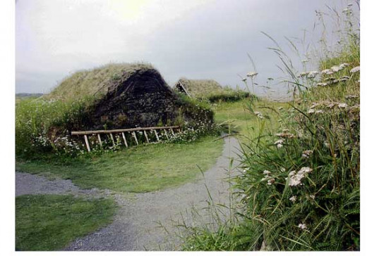 L'Anse aux Meadows on Newfoundland - there was another settlement on the southern shore of the St Lawrence river (the first 'Yanks'?