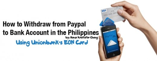 Withdrawing Paypal Money to Bank Account in the Philippines