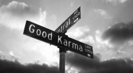 Taking a right onto Good Karma Lane...