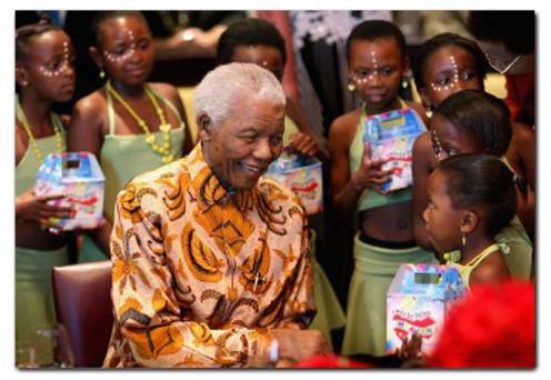 Mandela with children