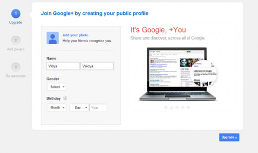 how to make google profile public
