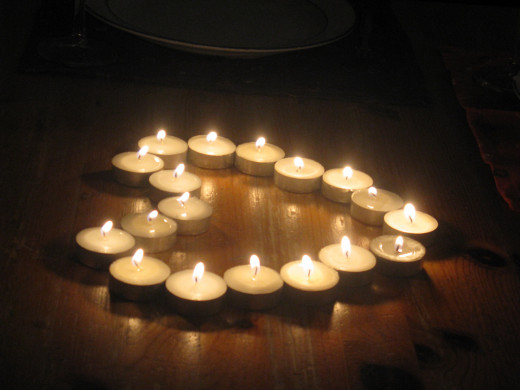 Tea Light Candles can be an inexpensive way to express your feelings.