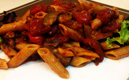 Fresh and tasty balsamic vegetarian pasta