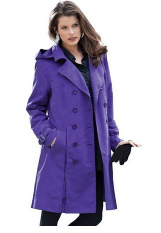 Love the Color of This Trench Coat