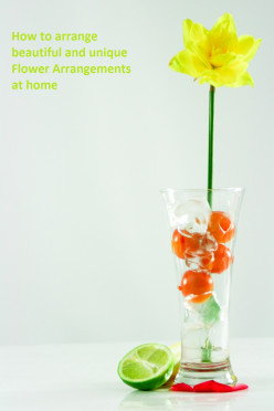 How to arrange fresh flowers in a vase - create a beautiful and interesting flower arrangement