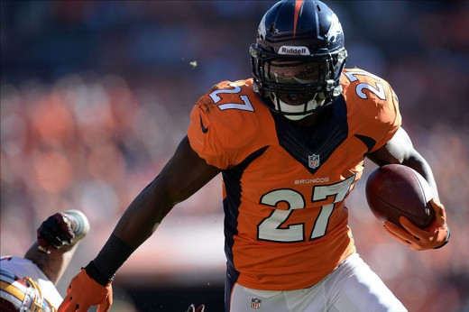 Running back Knowshown Moreno will be expected to take some of the pressure off Peyton Manning