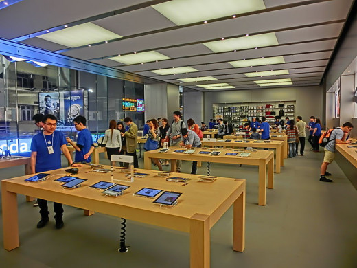 BiblioTech does resemble this Apple Store, but with nothing on the walls.