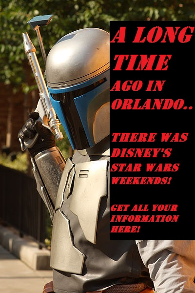 Jango Fett greets visitors at Star Wars Weekends.
