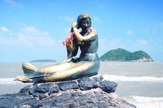 A Mermaid statue in Songkhla, Thailand. An image that can be seen in so many places around the world!