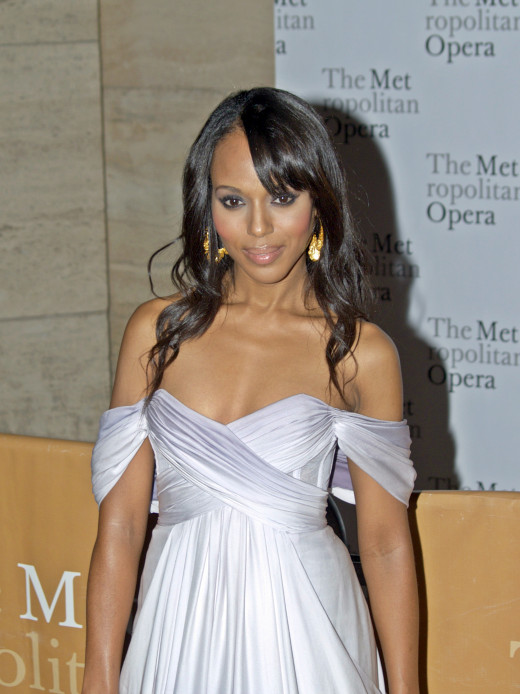 Kerry Washington stars as the vivacious Olivia Pope in ABC's hit show Scandal