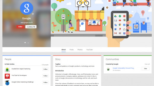 Google introduced the new cover photo layout for Google+.