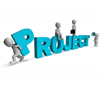 A project manager coordinates everything and brings it all together