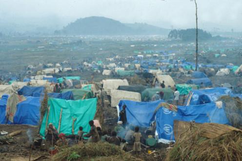 Rwandan refugee camp
