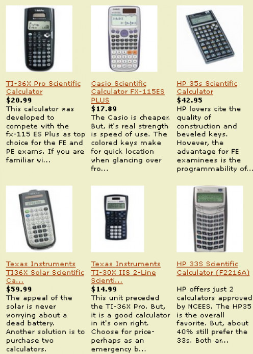 The best of the NCEES-eligible FE exam calculators. You will have an on-screen calculator to use. But, a hand-held unit will not block the screen and will be easier to use for calculating on the reusable paper.
