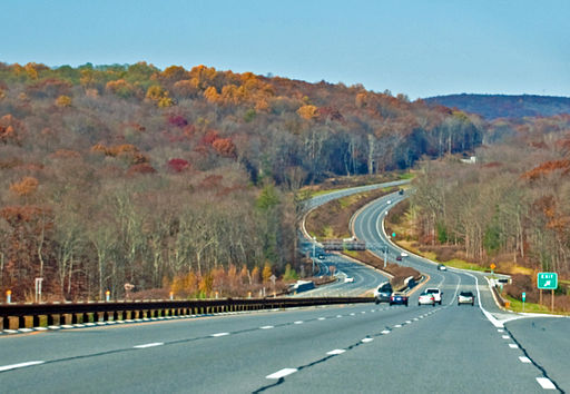 The Appalachian Trail travels through the Taconic Mountains in eastern New York and southern New England. In New York the trail passes close to the Taconic State Parkway