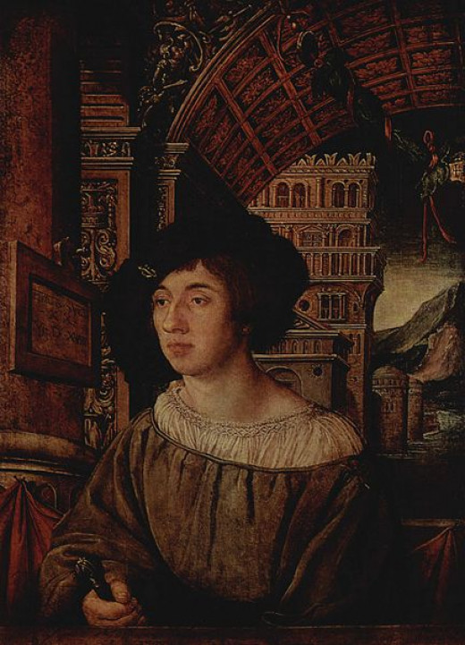 Portrait of a Young Man was painted in 1518 by Ambrosius Holbein (c 1494 – c 1519).