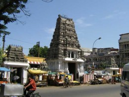 A Temple in T.Nagar, Chennai, Tamilnadu. Note, there is no Bell Tower as a prominant feature.