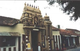 A Temple in Jaffna Town. Note the Belll Tower next to the Gate Tower.