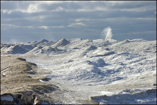 Lake Michigan ice shelf