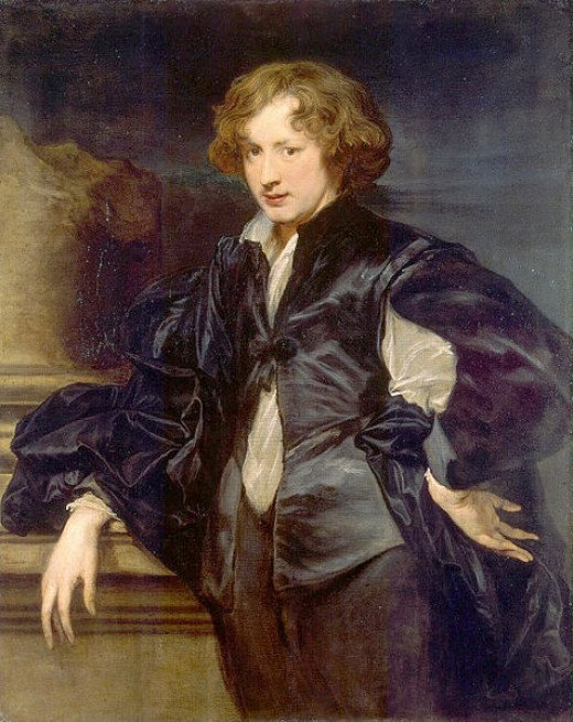 Sir Anthony van Dyck (1599-1641) painted this self-portrait circa 1618 to 1619.