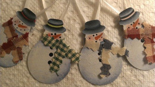 These cuties were painted on rusty tin!
