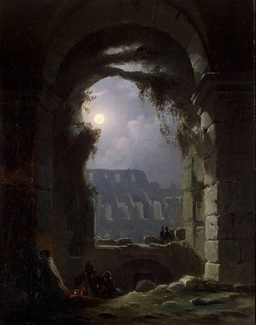 View of the Coliseum by Night was painted by Carl Gustav Carus (1789-1869) circa 1830.