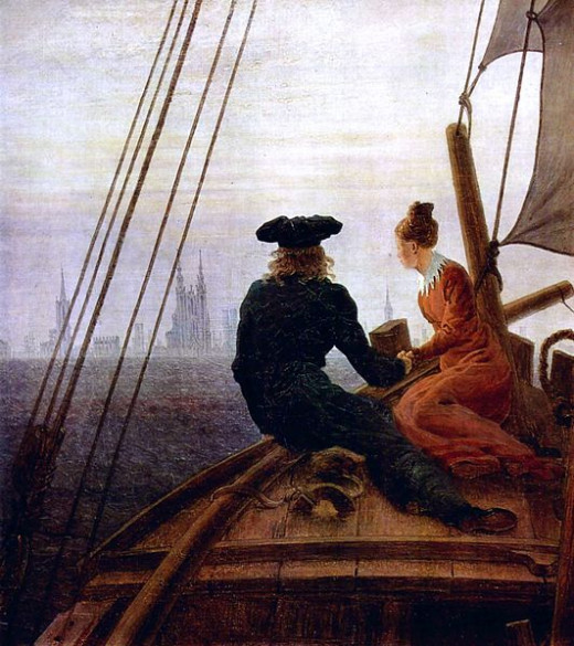 On the Sailing Vessel was painted by Caspar David Friedrich (1774-1840) in 1818.