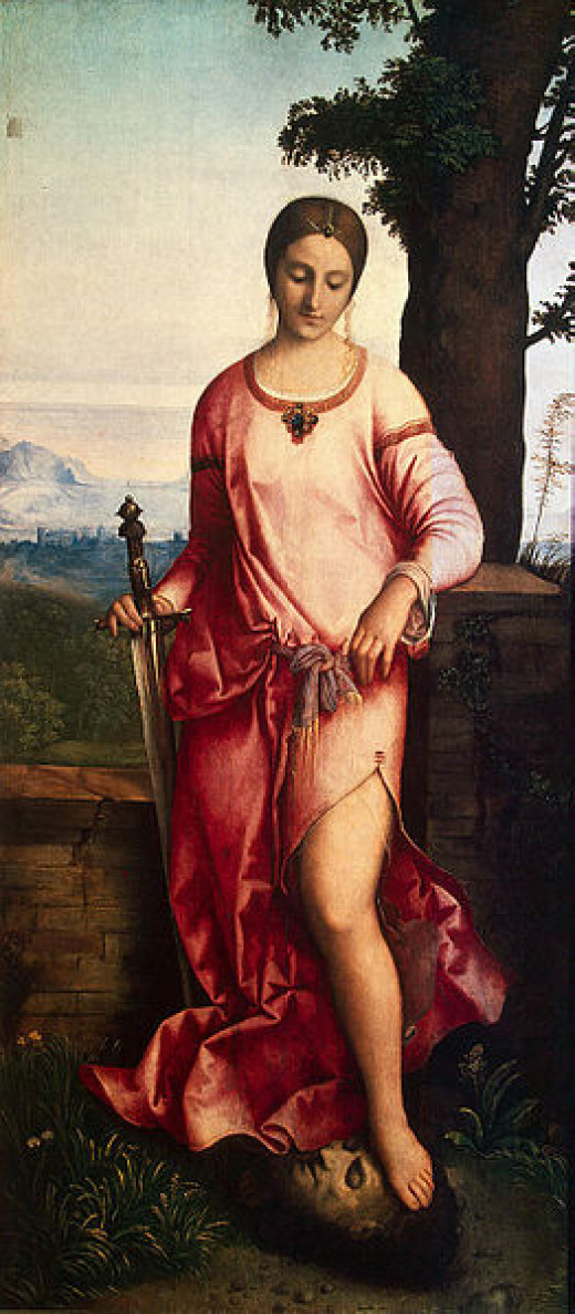 This painting of Judith by Giogione (1477-1510) was created circa 1504.