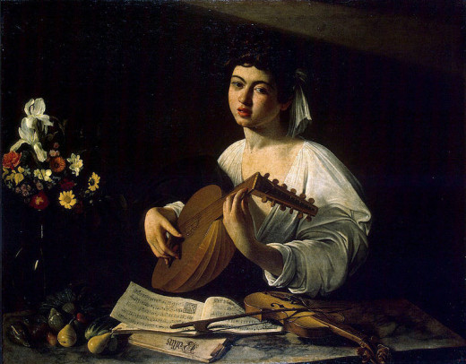 Michaelangelo Caravaggio (1573-1610) painted The Lute Player circa 1595.