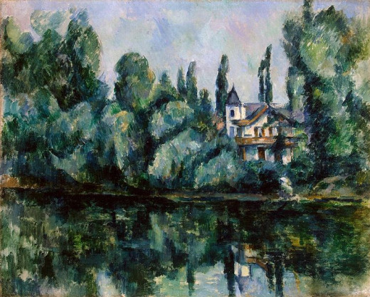 Paul Cézanne (1839-1906) painted On the Banks of the Marne in 1888.