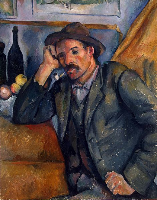Paul Cézanne (1839-1906) painted Man with a Pipe in 1890