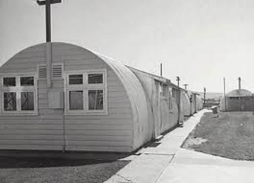 Not everyone had a home to go to.  Many families had to 'tough it out' until they were able to become established.