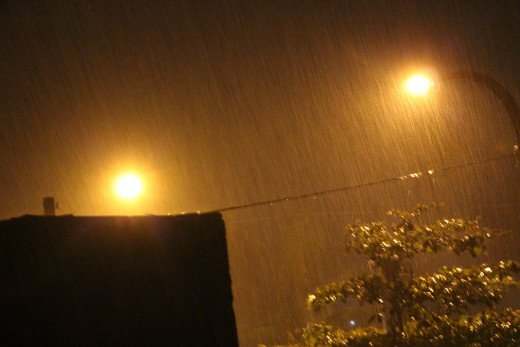 In night I see the rain :)