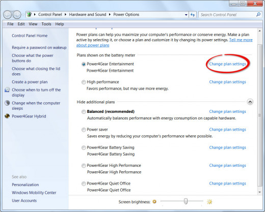 Step 3 - Windows Power Options
