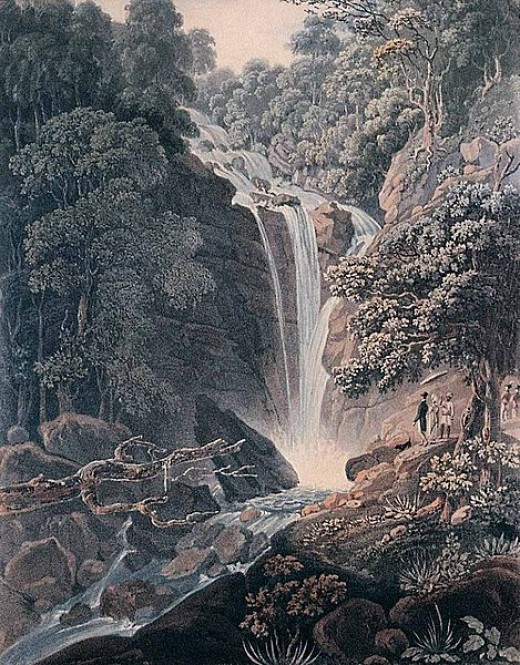 Waterfall painted in 1818 and almost unchanged today (though it is easier to reach!)
