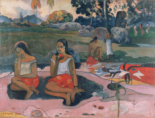 Paul Gauguin (1848-1903) painted Sacred Spring: Sweet Dreams in 1894.