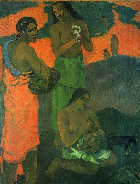 Paul Gauguin (1848-1903) painted Women on the Edge of the Sea (also known as Maternity I) in 1899.
